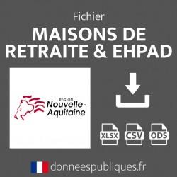 Fichier emails des maisons de retraite et EHPAD de la région Nouvelle-Aquitaine
