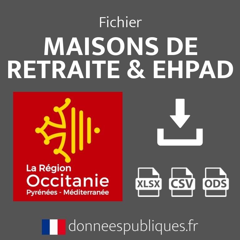Fichier emails des maisons de retraite et EHPAD de la région Occitanie