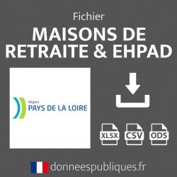Fichier emails des maisons de retraite et EHPAD de la région Pays de la Loire