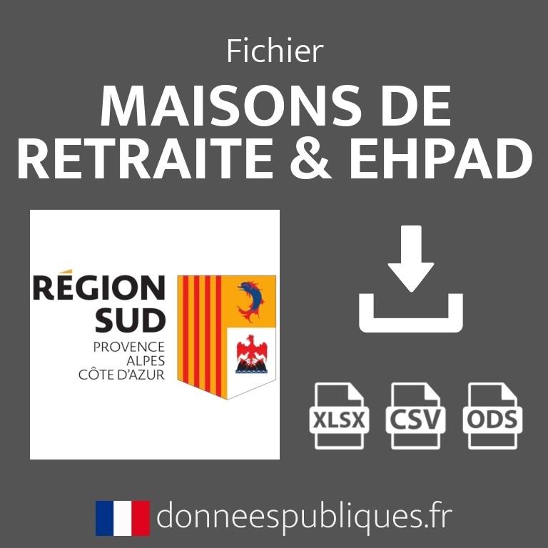 Fichier emails des maisons de retraite et EHPAD de la région Provence-Alpes-Côte d'Azur