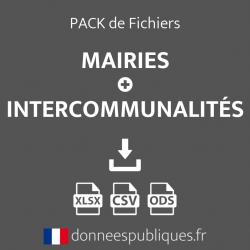 Pack Fichiers mails mairies et intercommunalités de France