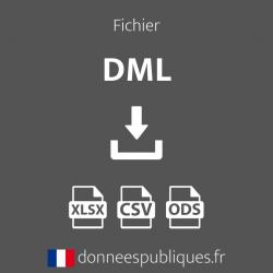 Fichier des DML