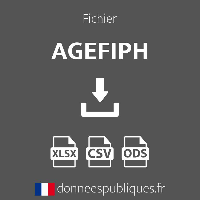 Fichier des agences de l'AGEFIPH