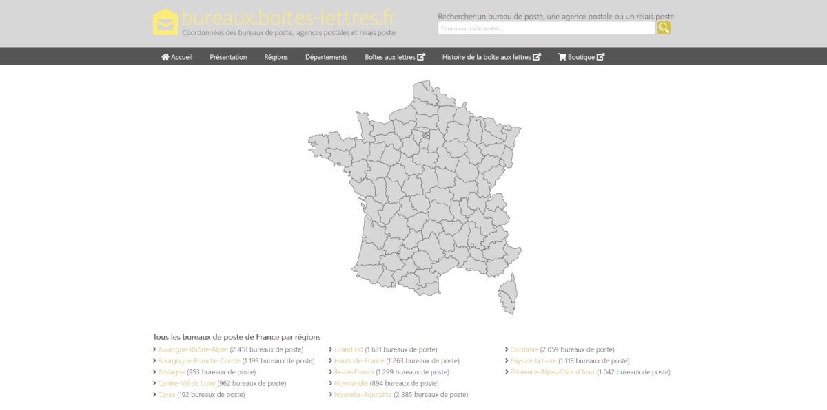 Site bureaux.boites-lettres.fr