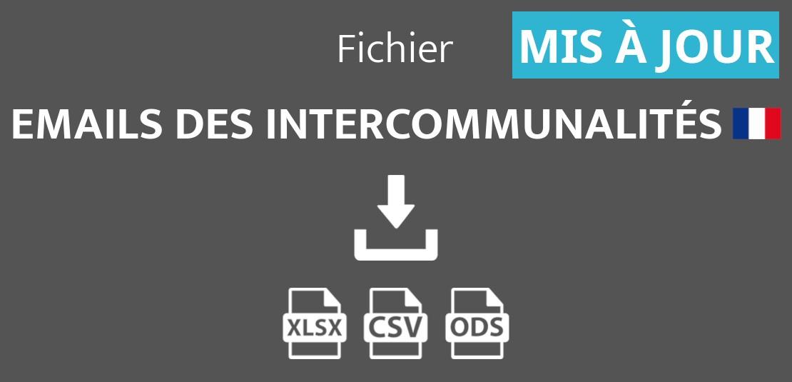 Emails des intercommunalités de France