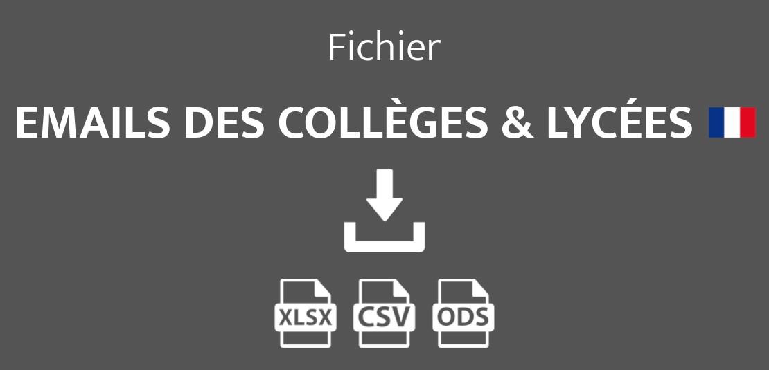 Emails des collèges et lycées