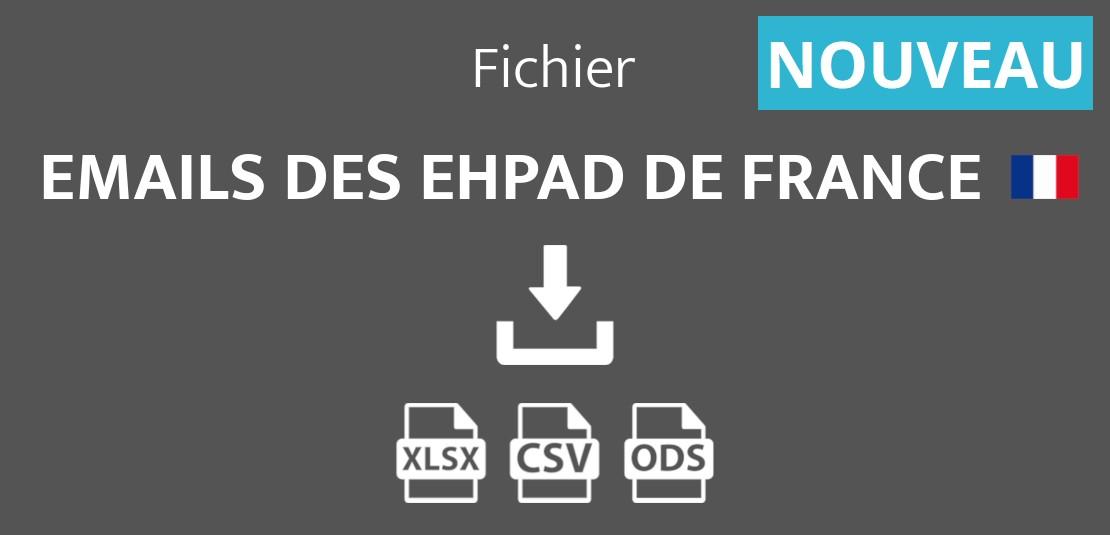Emails des maisons de retraite et EHPAD de France