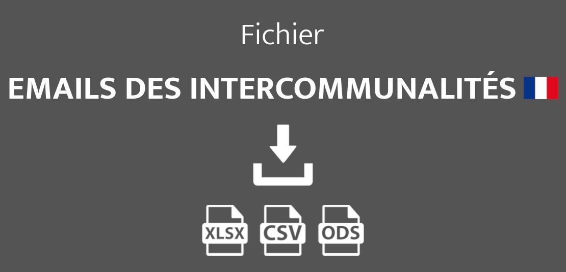 Emails des intercommunalités